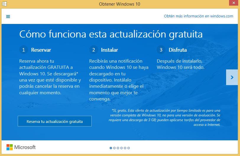 Windows 10 ya se puede reservar