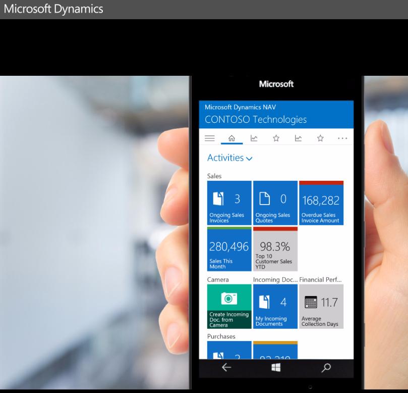 Visitas guiadas por Microsoft Dynamics NAV