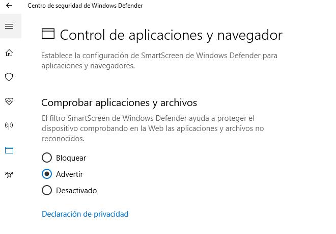 Aumentar la seguridad del equipo con Windows Defender