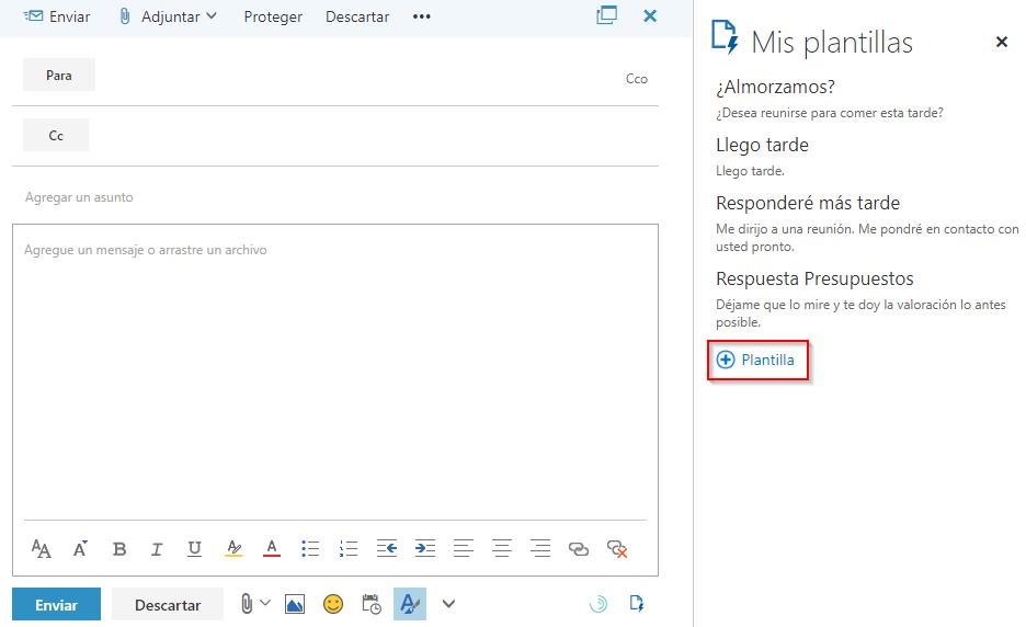 Píldora para usuarios de Office 365: plantillas en OWA