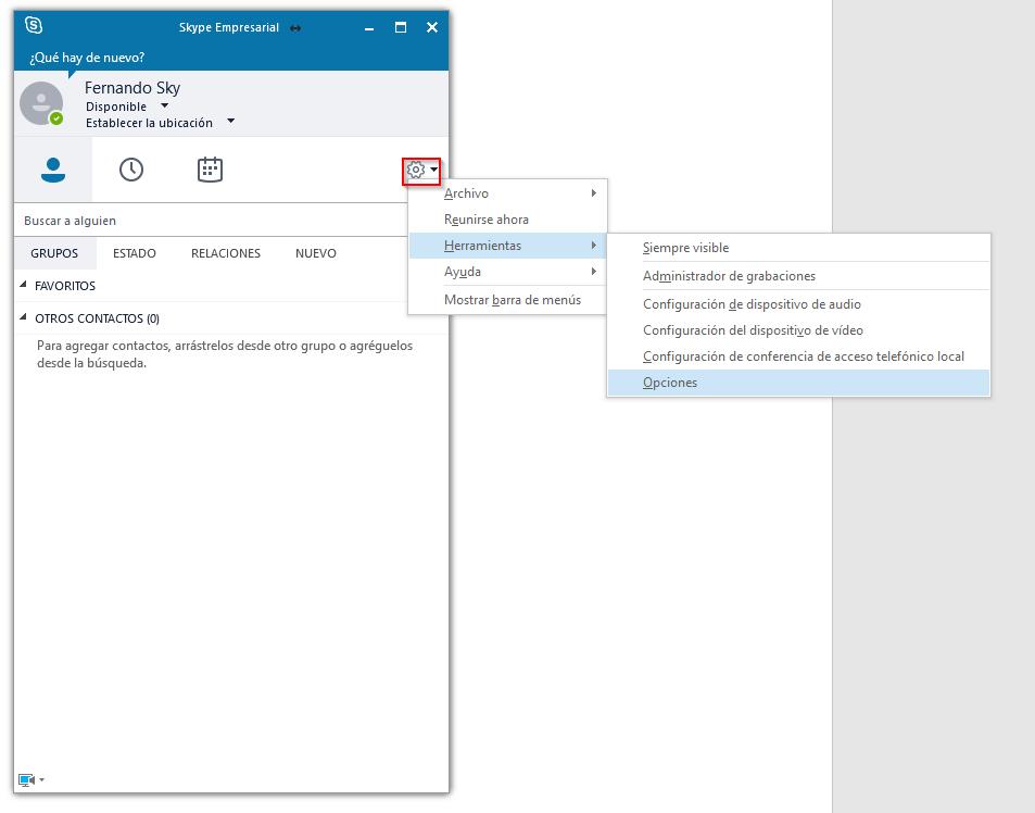 Primeros pasos con Skype for Business