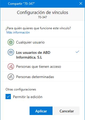 Píldora para Usuarios de Office 365: Compartir elementos sincronizados desde el PC