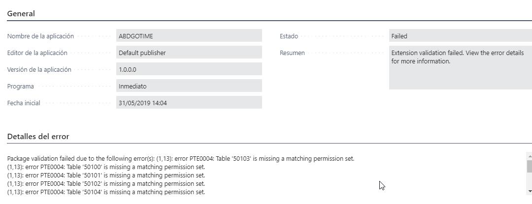 Incluir conjunto de permisos en una Extension