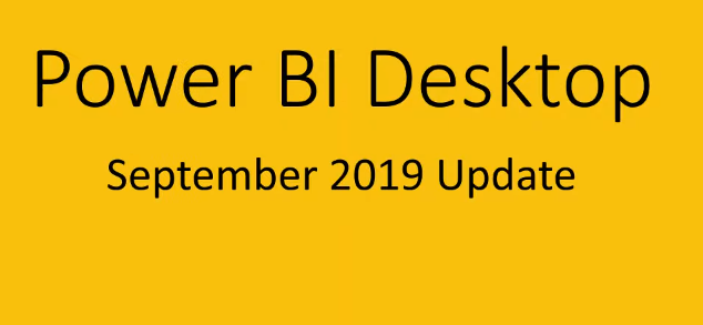 Novedades PowerBI Desktop  Septiembre 2019