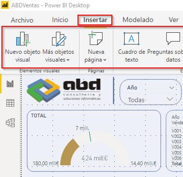 Power BI Desktop, Ribbons con la nueva experiencia actualizada y moderna