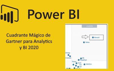 Power BI líder un año más de Business Intelligence en Cuadrante Mágico de Gartner 2020