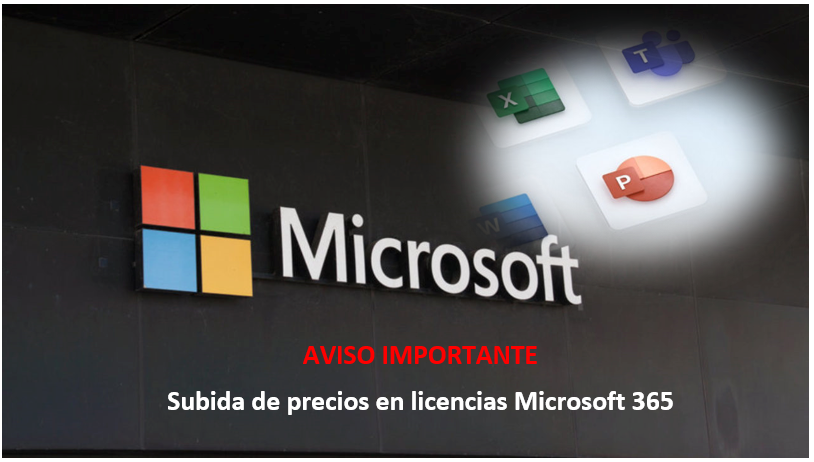 Microsoft anuncia subida de precios en licencias Microsoft 365